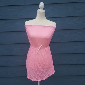 Pink/ white striped Billabong sleeveless top